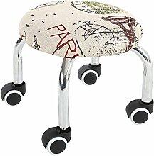 Fuß aus Holz Hocker Hocker Stühle, Hocker mit runder Hocker Kind Walker Hocker Home Leder Hocker Multi-Color Optional, 32 cm Turm