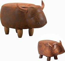 Fuß aus Holz Hocker Hocker Stühle Kleine Werkbank Kinder Stil kurze Hocker Cartoon Tier Muster Modellierung Home kreative Sofa Hocker 1 Packung, übergeordneten Huang Zong
