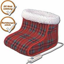 Fuss-Heizsack (elektrischer Fusswärmer 30x28cm, 2 Wärmestufen, Fußsack gegen kalte Füsse)