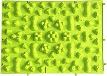 Fuß Massage Pad sunnymi Finger board große bunte Akupunktur Fußmassagegerät medizinische Therapie Mat (Grün, 29*39cm)