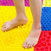 Fuß Massage Pad sunnymi Finger board große bunte Akupunktur Fußmassagegerät medizinische Therapie Mat (Gelb, 29*39cm)