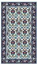 Fußabdruck Deco Teppich blau/himmelblau 70x