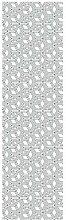 Fußabdruck Deco Teppich weiß/grau 280x 50cm
