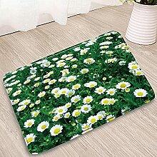 Fußabtreter Gänseblümchen-Blume Badematten Gelb