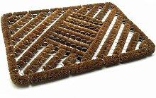 Fußabtreter Kokos 40x60cm Metall Türmatte