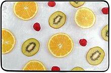 Fußabtreter Orange Und Kiwi Fresh Style Teppich