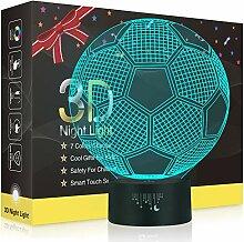 Fußball 3D Lampe,Besrina LED Nachtlicht Illusion