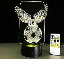 Fußball Adlerförmige 3D Nachtlicht Hologramm LED