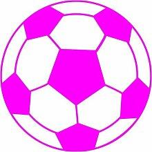 Fussball Aufkleber 001, 50 cm, pink
