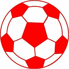 Fussball Aufkleber 001, 50 cm, ro
