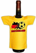 Fußball Bundesliga cooles Mini T-Shirt Flaschen Shirt Geschenk Deko Mitbringsel in gelb Fußballfan : )