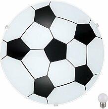 Fußball Decken Lampe Kinderzimmer Glas Wand
