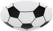 Fußball Design Decken Leuchte Glas Lampe schwarz