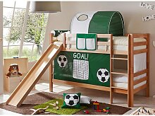 Fußball Etagenbett mit Rutsche und Vorhang in