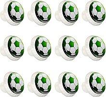 Fußball Grün Bunte Schrankknöpfe Schrank