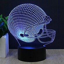 Fußball Helm Illusion Lampe LED Nachtlichter,