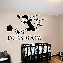 Fußball Kinder Diy Name Wandkunst Aufkleber