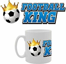 Fußball King Funny Tasse Kaffee Becher mit