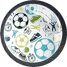 Fußball Kristallglas Kommode Schublade Knöpfe