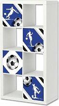 Fußball Möbelsticker / Aufkleber-Set passend für das Regal EXPEDIT / KALLAX von IKEA - FC19