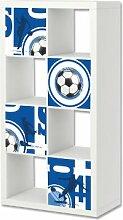 Fußball Möbelsticker / Aufkleber-Set passend für das Regal EXPEDIT / KALLAX von IKEA - FC20