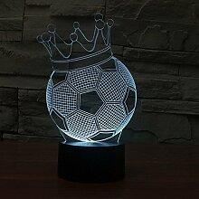 Fußball Nachtlicht, kreative 3D kleine