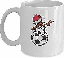 Fußball-Schneemann-Weihnachtsbecher - weiße