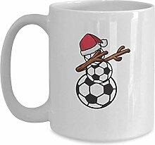 Fußball-Schneemann-Weihnachtsbecher - weißer