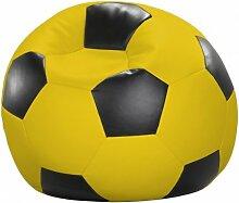 Fussball-Sitzsack, Farbe gelb/schwarz, Größe Ø 80 cm, 1000000005801