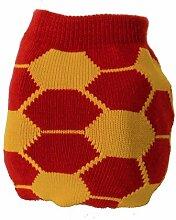 Fussball Socken in rot und gelb im Paar - Strumpf soccer
