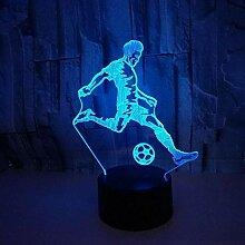 Fußball spielen LED 3D Lampe Touch Switch 3D