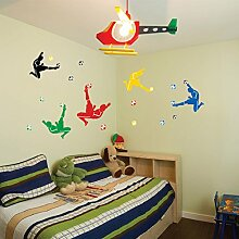 Fußball spielt Wandtattoo House Aufkleber abnehmbarer Wohnzimmer Tapete Schlafzimmer Küche Art Bild Wandmalereien Sticks PVC Fenster Tür Dekoration + 3D Frosch Auto Aufkleber Geschenk