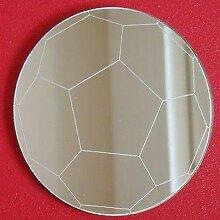 Fußball Wandspiegel, plastik, 45 cm Diameter