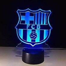 Fußballmannschaft FCB Nachtlicht Football Club 3D