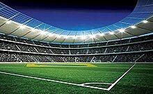 Fußballplatz fototapete wandbild vlies natur für