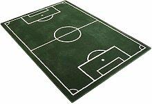 Fußballplatz Fussball Teppich Grün, Größe:80x150