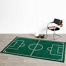 Fußballplatz Teppich Grün, Größe:80x150
