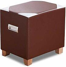 Fußbank Für Leder Massivholz Quadrat Sofa Bank