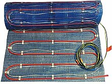 Fußbodenheizung 2systems als komb. Warmwasser- und Elektroheizung von 2,5-10m², OHNE Regler, mit Heizleistung ca. 60-120 Watt/m² - leicht zu verlegen!, Fläche:2.5 qm