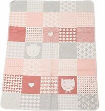 Fussenegger Babydecke rosa/grau Größe 70x90 cm