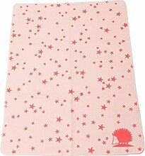 Fussenegger Bio-Babydecke gekettelt Baumwolle rosa