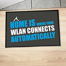 "Fußmatte ""Home is where your WLAN connects"