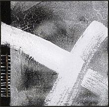 FUßMATTE 115/115 cm Abstraktes Grau, Weiß