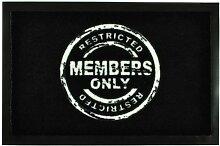 Fußmatte 'Members Only' | Türmatte