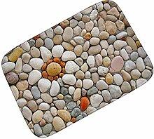 Fußmatte 3D Stein Gedruckt Outdoor Haustürmatten