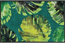FUßMATTE 50/75 cm Floral Grün