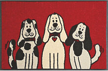 FUßMATTE 50/75 cm Hund Rot, Schwarz, Weiß