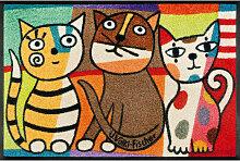 FUßMATTE 50/75 cm Katze Multicolor