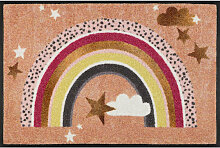 FUßMATTE 50/75 cm Stern Multicolor, Beige