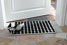 Fußmatte ALU 60x40cm, eckig glänzend, Aluminium